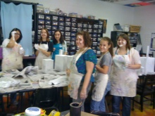 Art Club working on Cleveland County Fairbooth