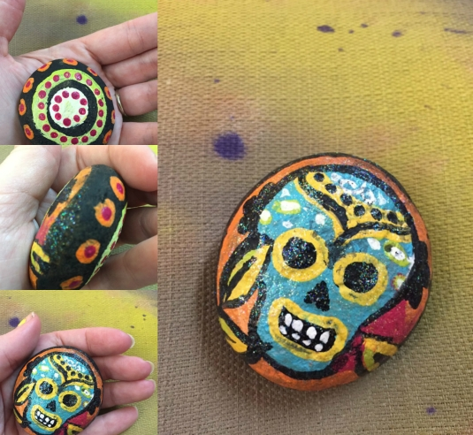 small-sugar-skull-rock-painting-collage